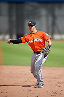 Miami Marlins Denis Karas (66) during a Minor League Spring Training game against the Washington Nationals on March 28, 2018 at FITTEAM Ballpark of the Palm Beaches in West Palm Beach, Florida.  (Mike Janes/Four Seam Images)