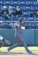 Bryant Flete #28 of the Boise Hawks bats against the Everett AquaSox at Everett Memorial Stadium on July 25, 2014 in Everett, Washington. Everett defeated Boise, 3-1. (Larry Goren/Four Seam Images)
