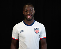Benji Michel during a portrait studio session for the U23 Olympic Qualifying team 2021.