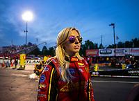 May 4, 2018; Commerce, GA, USA; NHRA funny car driver Courtney Force during qualifying for the Southern Nationals at Atlanta Dragway. Mandatory Credit: Mark J. Rebilas-USA TODAY Sports