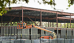 Construction on the new Parker Elementary School, March 23, 2017.