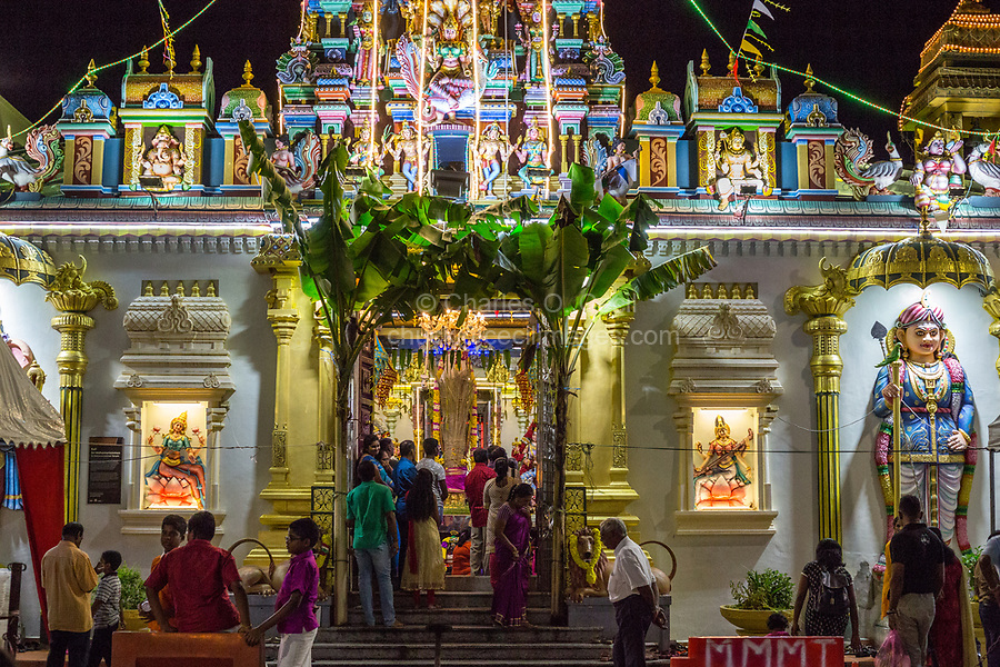 Hindu Worshipers Entering Sri Maha Mariamman Temple during Navarathri Celebrations, George Town, Penang, Malaysia.