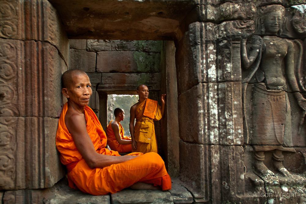 Monks at Angkor, 2006