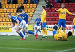 St Johnstone v Kilmarnock…..25.01.20   McDiarmid Park   SPFL<br />Ali McCann celebrates his gola<br />Picture by Graeme Hart.<br />Copyright Perthshire Picture Agency<br />Tel: 01738 623350  Mobile: 07990 594431