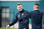 St Johnstone Training…29.03.19<br />Liam Craig and Michael O'Halloran pictured during training this morning at McDiarmid Park ahead of tomorrow's trip to Motherwell.<br />Copyright Perthshire Picture Agency<br />Tel: 01738 623350  Mobile: 07990 594431