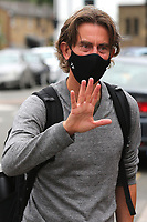 Brentford Manager, Thomas Frank arrives at the ground ahead of kick-off wearing a mask during Brentford vs Wigan Athletic, Sky Bet EFL Championship Football at Griffin Park on 4th July 2020