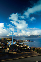 The Firth of Clyde and Gourock from the Free French Memorial Cross, Lyle Hill above Greenock, Inverclyde