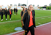 20190304 - LARNACA , CYPRUS :  Belgian Maud Coutereels pictured during a women's soccer game between Nigeria and the Belgian Red Flames , on Monday 4 th March 2019 at the GSZ Stadium in Larnaca , Cyprus . This is the third and last game in group C for both teams during the Cyprus Womens Cup 2019 , a prestigious women soccer tournament as a preparation on the Uefa Women's Euro 2021 qualification duels. PHOTO SPORTPIX.BE | DAVID CATRY