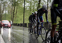 the early breakaway group<br /> <br /> 105th Liège-Bastogne-Liège 2019 (1.UWT)<br /> One day race from Liège to Liège (256km)<br /> <br /> ©kramon