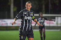 Alysson Duterne (14) of Sporting du Pays de Charleroi pictured during a female soccer game between Sporting Charleroi and Club Brugge YLA on the sixth matchday in the 2021 - 2022 season of Belgian Scooore Womens Super League , friday 8 October 2021 in Marcinelle , Belgium . PHOTO SPORTPIX | STIJN AUDOOREN