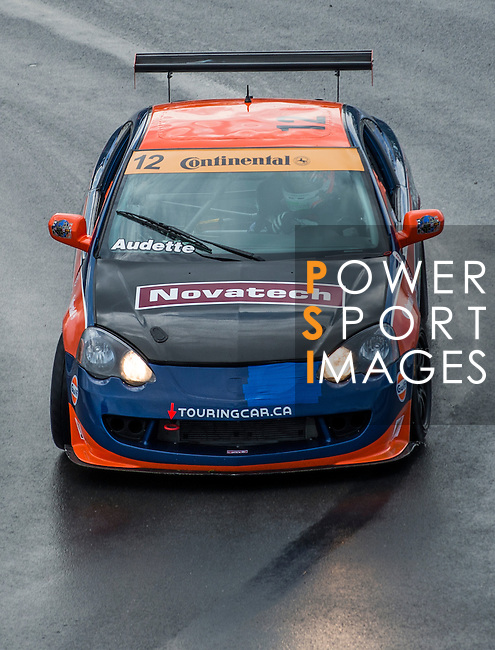 Audette Racing Team  driver Mathieu Audette speeds his  Acura RSX Type S car during the CTCC official practice race ahead the F1 Grand Prix du Canada at the Circuit Gilles-Villeneuve on June 08, 2012 in Montreal, Canada. Photo by Victor Fraile / The Power of Sport Images