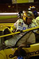 Dale Earnhardt exits the #3 Corvette after his late PM stint..39th Rolex 24 at Daytona, 3/4 February,2001 Daytona International Speedway  Daytona Beach,Florida,USA.©F.Peirce Williams 2001 ..