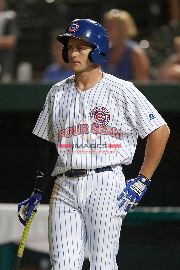 South Bend Cubs center fielder Donnie Dewees (16) during a game against the Burlington Bees on July 22, 2016 at Four Winds Field in South Bend, Indiana.  South Bend defeated Burlington 4-3.  (Mike Janes/Four Seam Images)