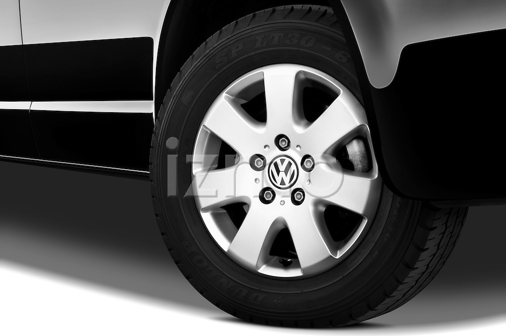 Tire and wheel close up detail view of a 2010 Volkswagen Multivan Shuttle Comfortline Minivan
