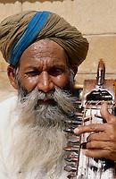 blinder Musiker, Jaisalmer (Rajasthan), Indien