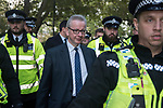 Michael Gove MP needs police protection when he leaves the House of Commons after the Brexit debate on Super Saturday  19th October 2019 Threatening abusive language shouted at MPs.