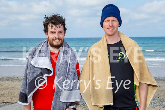 After a swim in Banna beach on Easter Sunday, l to r: Edmund and Michael Meehan.