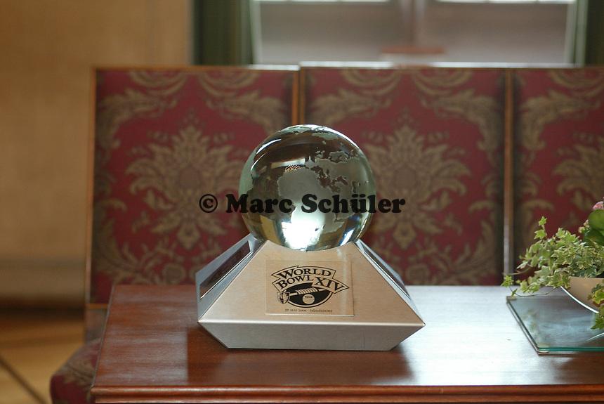 Der World Bowl im Kaisersaal des Frankfurter Roemer