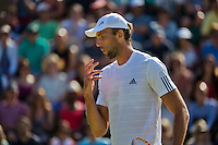 England, London, Juli 04, 2015, Tennis, Wimbledon, Ivo Karlovic (CRO) in his match against Jo-Wilfried Tsonga (FRA)<br /> Photo: Tennisimages/Henk Koster