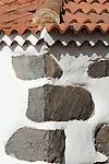 Spain, Canary Islands, La Palma, Villa de Garafia, Santo Domingo: village church (detail)