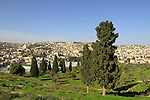 """Israel, Lower Galilee, a view of Nazareth from """"Fear Mountain"""""""