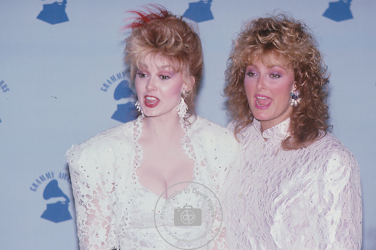 The Judds-Naomi Judd and her daughter, Wynonna Judd. 1987 Grammy Awards- The Judds, Naomi Judd, Wynonna Judd