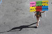 Manifestazione contro la crisi economica. .15 ottobre 2011 Roma, manifestazione degli Indignados italiani in occasione della Giornata della Rabbia.Manifestation of Indignados Italians  for the Day of Anger....