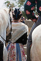 France/13/Bouches du Rhone/Camargue/Parc Naturel Régionnal de Camargue/Saintes Maries de la Mer: Cérémonie au tombeau du Marquis de Baroncelli lors du Pèlerinage des Gitans