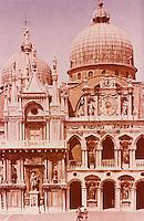 Venice:  Palazzo Ducale--Facade of clock.