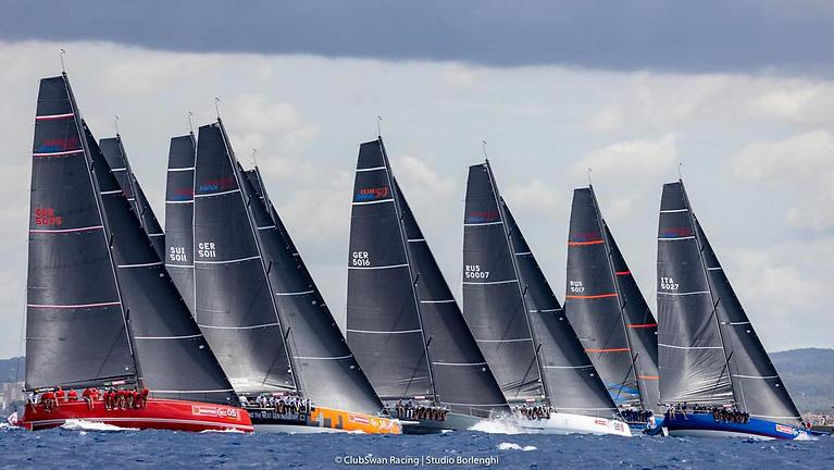 The Swan 50 fleet at the Copa Del Rey Mapfre Regatta at Palma this week includes good Irish crew representation on three boats in the 16-boat fleet