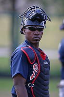 Atlanta Braves minor leaguer Jose Camarena during Spring Training at Disney's Wide World of Sports on March 15, 2007 in Orlando, Florida.  (Mike Janes/Four Seam Images)