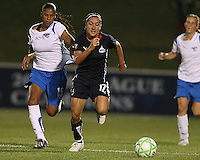 Lisa De Vanna #17 of the Washington Freedom races away from Fabiana #15 of the Boston Breakers during a WPS match at Maryland Soccerplex on July 29, in Boyds, Maryland. Freedom won 1-0.