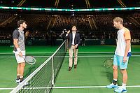 ABN AMRO World Tennis Tournament, Rotterdam, The Netherlands, 13 februari, 2017, Robin Haase (NED), Florian Mayer (GER)<br /> Photo: Henk Koster