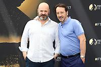 Joseph MALERBA, Jean-Hugues ANGLADE - Photocall 'BRAQUO' - 57ème Festival de la Television de Monte-Carlo. Monte-Carlo, Monaco, 17/06/2017. # 57EME FESTIVAL DE LA TELEVISION DE MONTE-CARLO - PHOTOCALL 'BRAQUO'