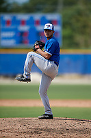 Toronto Blue Jays pitcher Adrian Hernandez (15) during an Instructional League game against the Philadelphia Phillies on September 27, 2019 at Englebert Complex in Dunedin, Florida.  (Mike Janes/Four Seam Images)