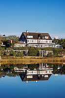 Large house on the Edgartown harbor waterfront,
