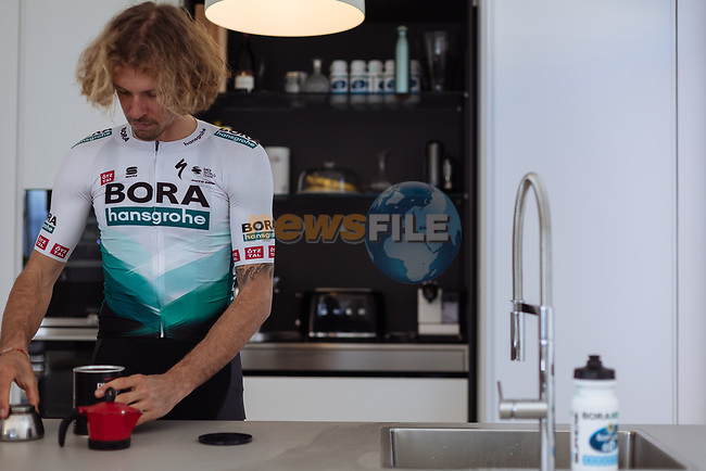 Daniel Oss (ITA) wearing BORA-Hansgrohe new 2021 Sportful kit. The design of the BORA-Hansgrohe kit has received a refreshed look with a cool and modern light grey colour, while keeping the iconic chevron at its core. 18th December 2020.<br /> Picture: BORA-Hansgrohe/Sportful/Chiara Redaschi    Cyclefile<br /> <br /> All photos usage must carry mandatory copyright credit (© Cyclefile   BORA-Hansgrohe/Sportful/Chiara Redaschi)