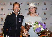 13-08-11, Tennis, Hillegom, Nationale Jeugd Kampioenschappen, NJK, Winnaar bij be jongens tot 16 jaar Jelle Sels met Jan Siemerink