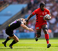 Saracens' Maro Itoje in action during todays match<br /> <br /> Photographer Bob Bradford/CameraSport<br /> <br /> Gallagher Premiership Final - Exeter Chiefs v Saracens - Saturday 1st June  2018 - Twickenham Stadium - London<br /> <br /> World Copyright © 2019 CameraSport. All rights reserved. 43 Linden Ave. Countesthorpe. Leicester. England. LE8 5PG - Tel: +44 (0) 116 277 4147 - admin@camerasport.com - www.camerasport.com