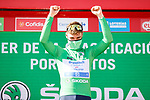 Fabio Jakobsen (NED) Deceuninck-Quick Step wins Stage 4 and takes over the points Green Jersey of La Vuelta d'Espana 2021, running 163.9km from Burgo de Osma to Molina de Aragon, Spain. 17th August 2021.    <br /> Picture: Luis Angel Gomez/Photogomezsport | Cyclefile<br /> <br /> All photos usage must carry mandatory copyright credit (© Cyclefile | Luis Angel Gomez/Photogomezsport)