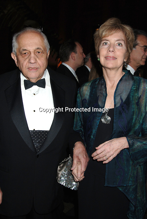 Andrew Sarris and wife Molly Haskell ..at The Pen American Center's 2006 Literary Gala on ..April 18, 2006 at The American Museum of Natural History. ..Robin Platzer, Twin Images