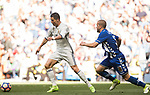 Cristiano Ronaldo (l) of Real Madrid is challenged by Victor Laguardia Cisneros of Deportivo Alaves during their La Liga match between Real Madrid and Deportivo Alaves at the Santiago Bernabeu Stadium on 02 April 2017 in Madrid, Spain. Photo by Diego Gonzalez Souto / Power Sport Images