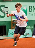 03-06-12, France, Paris, Tennis, Roland Garros,   David Goffin