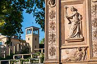 Reliefbild am Triumphtor, historischer Winzerberg, Potsdam, Brandenburg, Deutschland