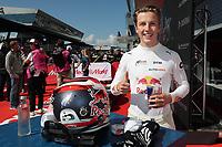 5th September 2021; Red Bull Ring, Spielberg, Austria; DTM Race 2 at Spielberg;   Liam Lawson NZ Red Bull AF Corse, Ferrari 488 GT3 Evo celebrates winning race 2