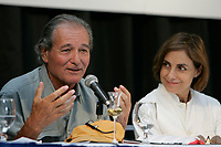 2004 World Film Festival Jury's Press Conference<br /> Claude Zidi, Film mkaer and President of the Jury (L)<br /> Diana Bracho, actress<br /> <br /> PHOTO :  Agence Quebec Presse