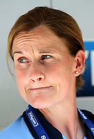 USA's Coach Jill Ellis during the FIFA U20 Women World Cup at the Rudolf Harbig Stadium in Dresden, Germany on July 14th, 2010.