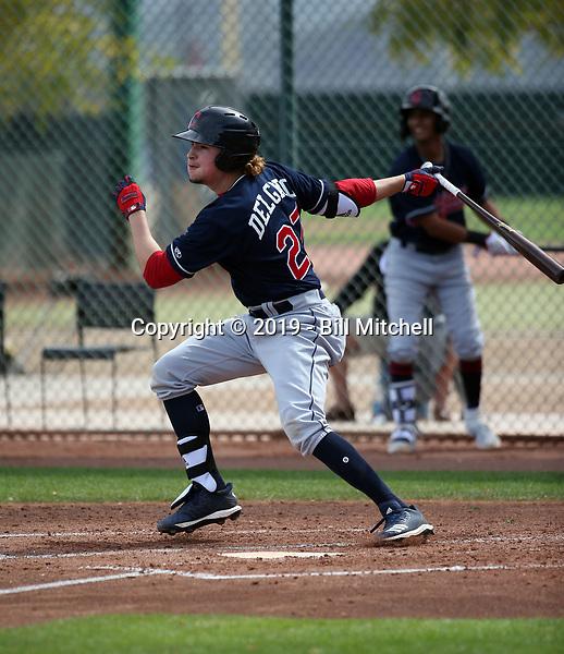 Raynel Delgado - Cleveland Indians 2019 spring training (Bill Mitchell)