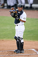 April 15, 2009:  Catcher Anderson De La Rosa of the Brevard County Manatees, Florida State League Class-A affiliate of the Milwaukee Brewers, during a game at Space Coast Stadium in Viera, FL.  Photo by:  Mike Janes/Four Seam Images