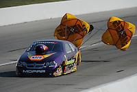 Sept. 3, 2011; Claremont, IN, USA: NHRA pro stock driver Vincent Nobile during qualifying for the US Nationals at Lucas Oil Raceway. Mandatory Credit: Mark J. Rebilas-